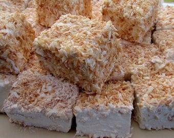 Large Handmade Toasted Coconut & Vanilla Bean Marshmallows