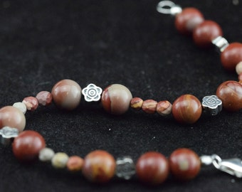 Bracelet beads Noreena Jasper and silver