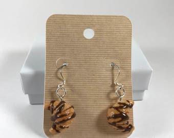 Chocolate Croissant earings