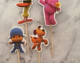 Pocoyo Cupcake Picks Toppers Cake Decorations Kids Novelty Birthday Party Supplies