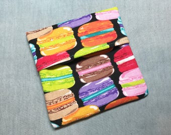 Cloth Pad Wrapper - Mini Wet Bag - PUL Pad Wrapper - Macaroons Pad Wrapper