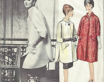 "1960s Vintage VOGUE Sewing Pattern B38"" COAT (1589) By Gres"