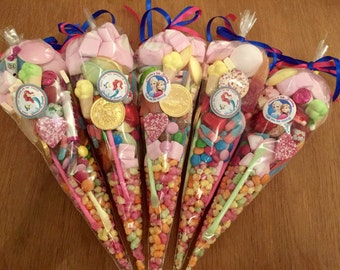 Candy cones personalised