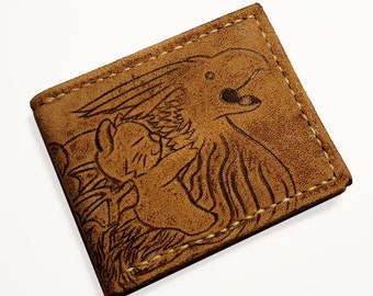 Suede Chocobo moogle rider Leather wallet.