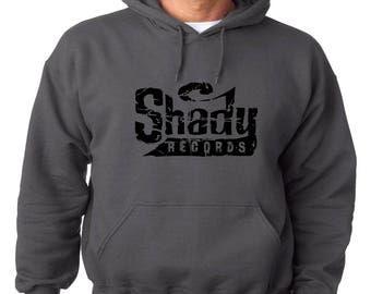 Shady Records Logo Hoodie Classic Vintage Style Hip Hop Fleece Sweatshirt Eminem Slim Shady Detroit Music Dirty Dozen Rap God