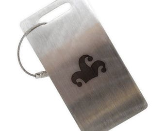 Jester Hat Stainless Steel Luggage Tag
