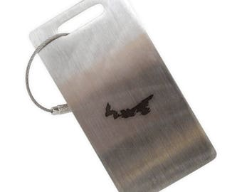 Prince Edward Island Stainless Steel Luggage Tag