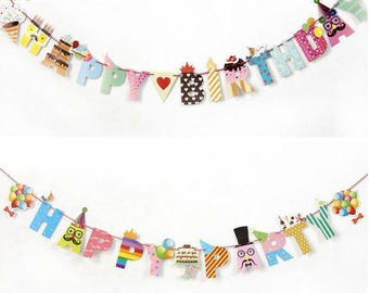 HAPPY BIRTHDAY or happy party banner/flag
