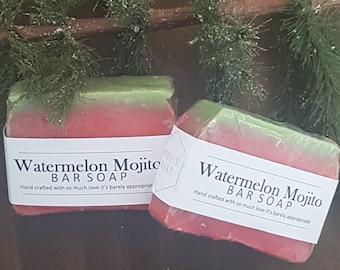 Watermelon mojito handmade soap