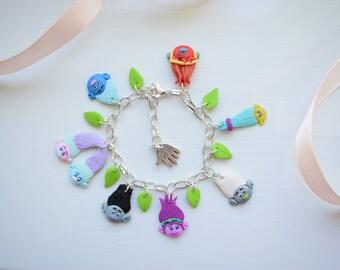 Fimo handmade bracelet inspired by Trolls