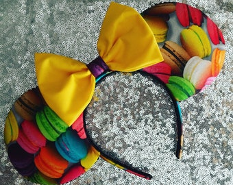 Macaroon mickey ears, macaroons