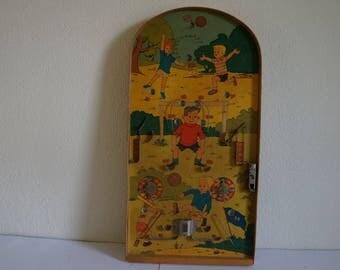 Old wooden children sport game ,knicker game, sport game.