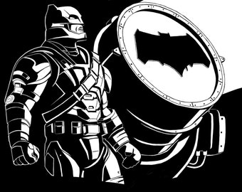 Batfleck - Digital Illustration Print