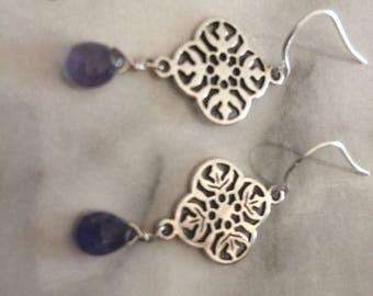 Tanzanite Sterling  Silver earrings