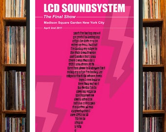 LCD Soundsystem Live At Madison Square Garden Concert Poster