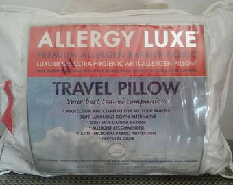 Down Alternative Travel Pillow/NEW Bed Bath & Beyond Hygienic anti-allergen Pillow/BONUS pillow protector/Father gift/Toddler pillow