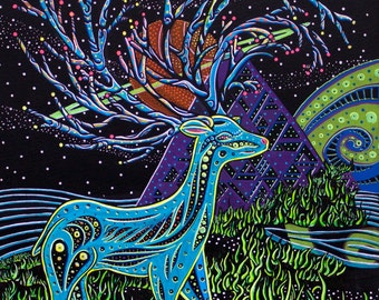 "Deer Dance - 12""x18"" Print"
