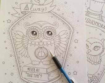 Harry Potter Printable Coloring Page Always