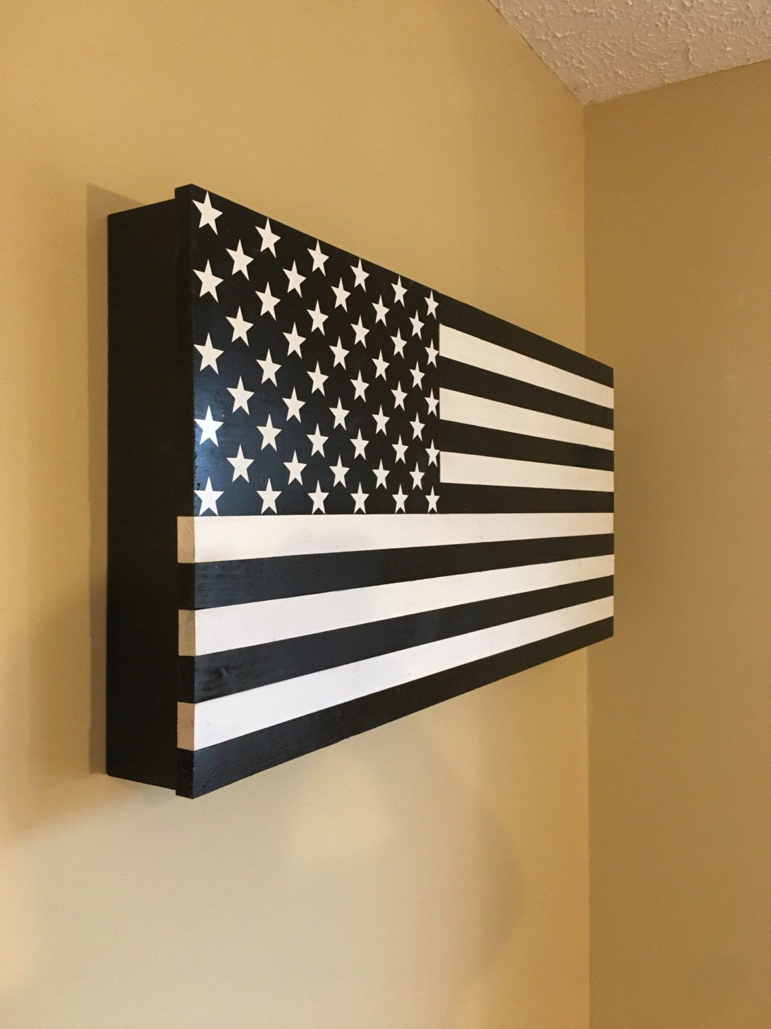 American Flag Hidden Storage Secret Compartment Gun Rack