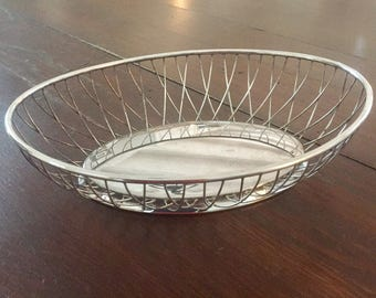 Silverplated Oval Bread Serving Basket