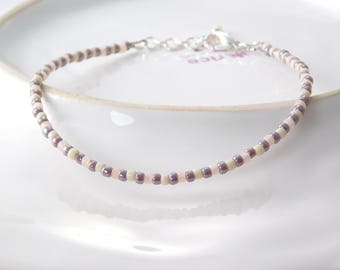 Anklets pastel Toho beads and silver