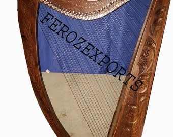 New professional  roswood 36 string lever harp with free tuning keay