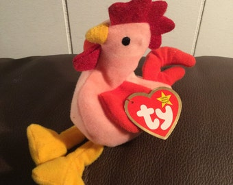 Vintage Ty Strut The Rooster With Tag, 1993