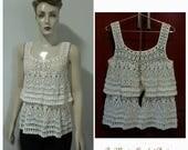Crochet croptop.crochet blouse,crochet vest