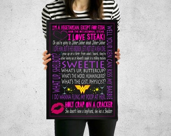 The Big Bang Theory Print, Penny Quotes Print, The Big Bang Theory Poster, Quote print, Quote Wall Art, Prints and Poster, Typography print,