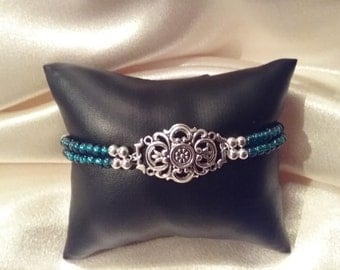 Turquoise color double stranded bracelet now on sale.  Was 14.95 now 13.75