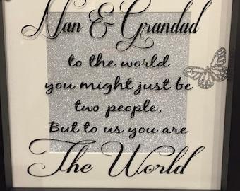 Nanna and grandad frame