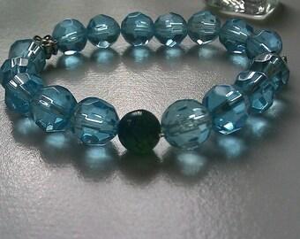 Crystal Blue Bracelet  Blue Bracelet