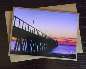 Handmade Photo Card - Largs Bay Jetty - JGP02
