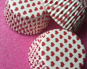 Cupcake Liners Hearts (Set Of 50)