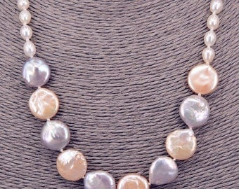Pearl Necklace Baroque necklace PKE103