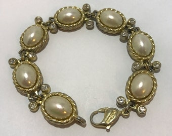 Designer Christian Dior french vintage bracelet, jewelry old retro
