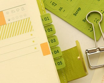 Leather Diary Index Sticker Page Tabs Leather Sticker