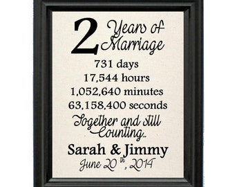 2nd Wedding Anniversary Gifts For Wife : 2nd anniversary gift 2nd anniversary natural cotton print 2nd wedding ...