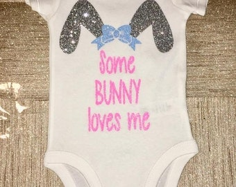 Some Bunny Loves Me Easter Bodysuit