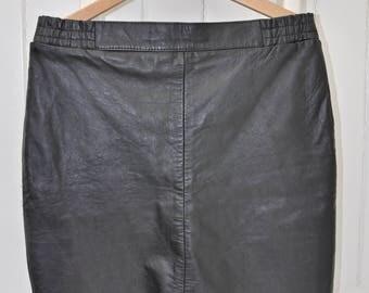 SALE, now 7.50 euro leather skirt, black skirt, vintage leather skirt, leather skirt