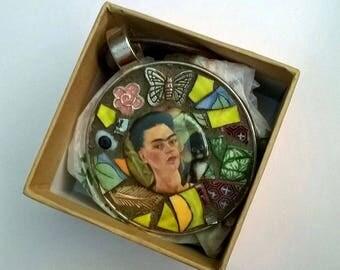 Frida Kahlo Mosaic Necklace