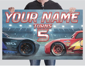 BANNER - Cars Birthday Banner