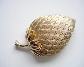Trifari strawberry brooch