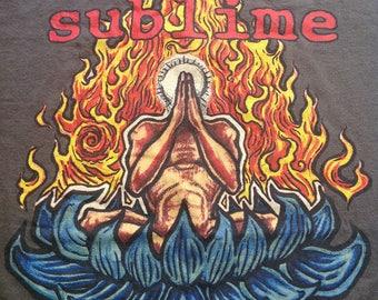Vintage 90s Sublime California Ska Punk T Shirt/Ska Punk Sublime With Rome/Surf Punk/Rocksteady