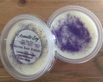 Bedtime Baby Powder Soy Wax Melt Pot Handmade