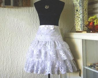 Sweet Lolita Lace skirt (kawaii), fairy kei, harajuku