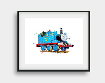 Thomas the Train Printable Wall Art, Thomas Art Print, Train Print, Thomas Print, Thomas Poster, Thomas and Friends, Thomas Birthday Party