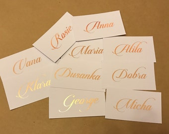 Wedding place cards | seating card | name card | foil | foiled place card