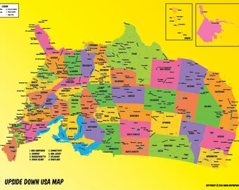 USA Upside Down Map
