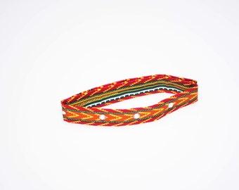 Red Kente Choker Necklace